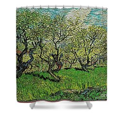 Orchard In Blossom Shower Curtain by Pemaro