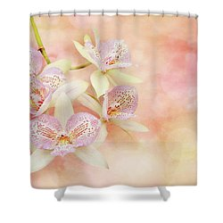 Shower Curtain featuring the photograph Orchid - Caulocattleya - The Twinkle In My Eye by Mike Savad