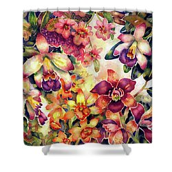 Orchid Garden II Shower Curtain