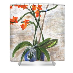 Shower Curtain featuring the painting Orchid by Jamie Frier