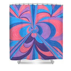 Shower Curtain featuring the drawing Orchid by Kim Sy Ok