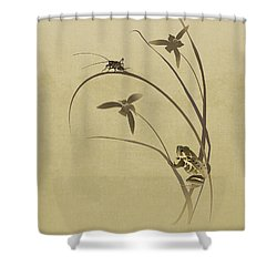Orchid Sonata Shower Curtain