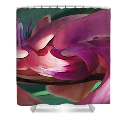 Orchid Variation Borderless Shower Curtain