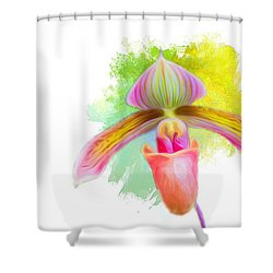 Orchid Whimsy Shower Curtain