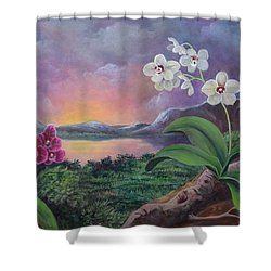 Orchids And Mystery Shower Curtain