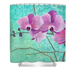 Orchids In Pink Shower Curtain by Arlissa Vaughn