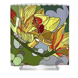 Orchids In Sunlight Shower Curtain