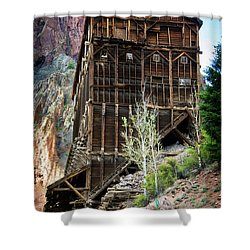 Ore Bins Shower Curtain