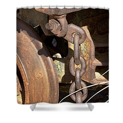 Ore Car Chain Shower Curtain by Phyllis Denton