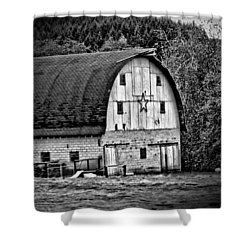 Oregon Barn Shower Curtain