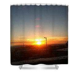 Oregon Blazing Sunset Shower Curtain