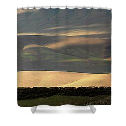 Shower Curtain featuring the photograph Oregon Canyon Mountain Layers And Textures by Leland D Howard