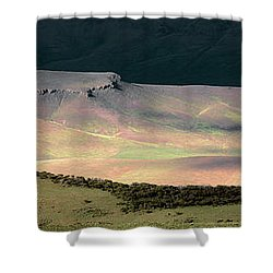 Oregon Canyon Mountain Layers Shower Curtain by Leland D Howard