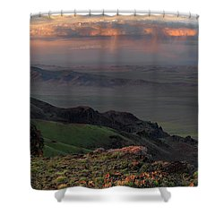 Shower Curtain featuring the photograph Oregon Canyon Mountain Views by Leland D Howard
