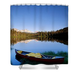 Oregon, Cascade Mountain Shower Curtain by Greg Vaughn - Printscapes
