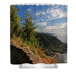 Oregon Coast Cape Perpetua View Shower Curtain