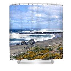 Oregon Coast Shower Curtain by Will Borden