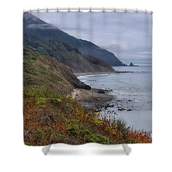 Oregon Coastal Vista Shower Curtain by Patricia Strand