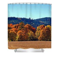 Oregon Fall Shower Curtain
