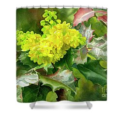 Oregon Grape Blossoms With Leaves Shower Curtain