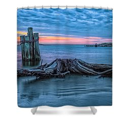 Oregon Inlet II Shower Curtain