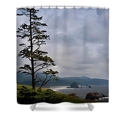 Oregon Ocean Vista Shower Curtain