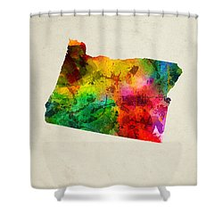 Oregon State Map 01 Shower Curtain