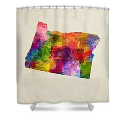 Oregon State Map 02 Shower Curtain