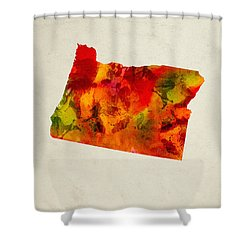 Oregon State Map 04 Shower Curtain