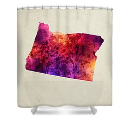 Oregon State Map 05 Shower Curtain