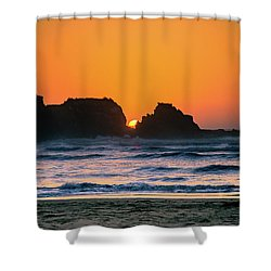 Shower Curtain featuring the photograph Oregon Sunset by Bryan Carter