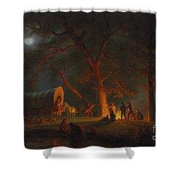 Oregon Trail Shower Curtain by Albert Bierstadt