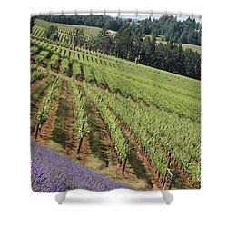 Oregon Vineyard Shower Curtain
