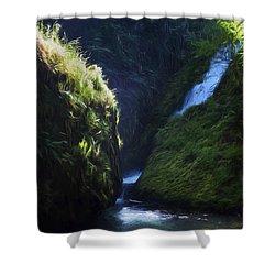 Oregon Waterfall Shower Curtain