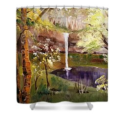 Oregon Waterfall Shower Curtain
