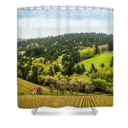 Oregon Wine Country Shower Curtain