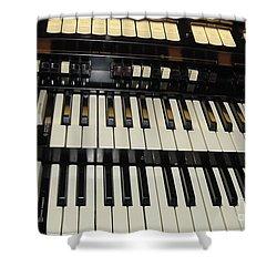 Hammond Organ Keys Shower Curtain