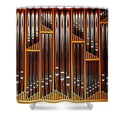 Organ Opus 76 - Philadelphia Shower Curtain by Rona Black