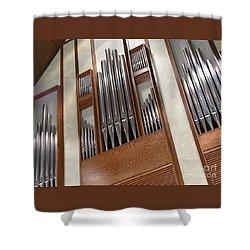 Organ Pipes Shower Curtain by Ann Horn