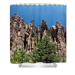 Shower Curtain featuring the photograph Organ Pipes by Joe Kozlowski
