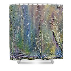 Shower Curtain featuring the painting Organic Fantasy Forest by Dolores  Deal