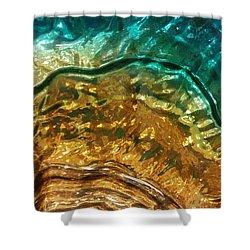 Organic Flow Shower Curtain by Caryl J Bohn