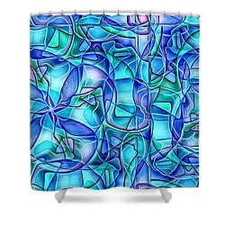 Organic In Square Shower Curtain by Ron Bissett