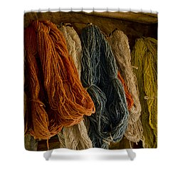 Organic Yarn And Natural Dyes Shower Curtain