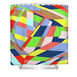 Shower Curtain featuring the digital art Organized Cubic Chaos by Bruce Stanfield