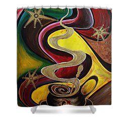 Organo Gold Shower Curtain