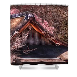 Orient - Shofuso House Shower Curtain by Mike Savad