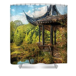 Orient - From A Chinese Fairytale Shower Curtain by Mike Savad