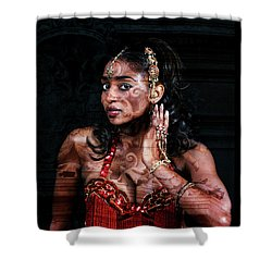 Orient Meets Baroque Shower Curtain