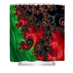 Oriental Abstract Shower Curtain